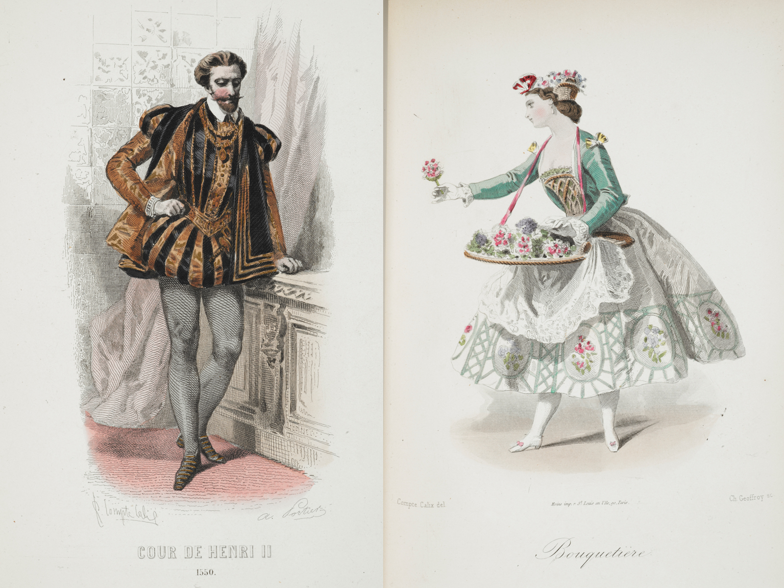 "Coloured plates extracted from ""Les Modes Parisiennes"" cover image"