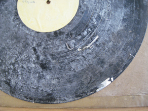 Degraded lacquer disc