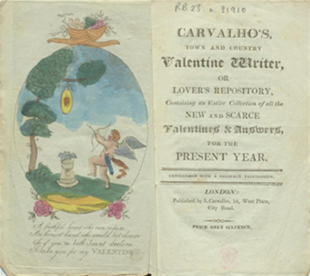 Carvalho's Town and Country Valentine Writer, or Lover's Repository cover image